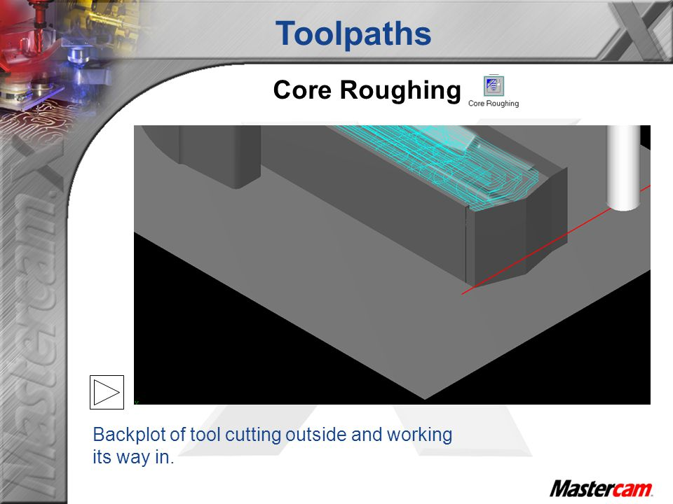 Toolpaths Core Roughing