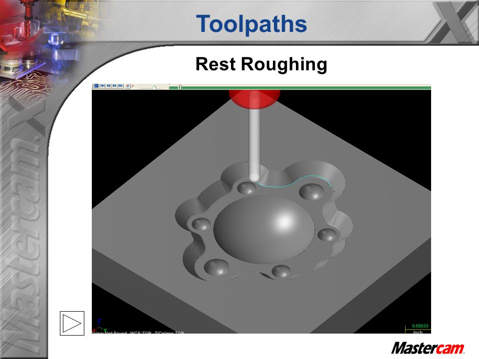 Toolpaths Rest Roughing