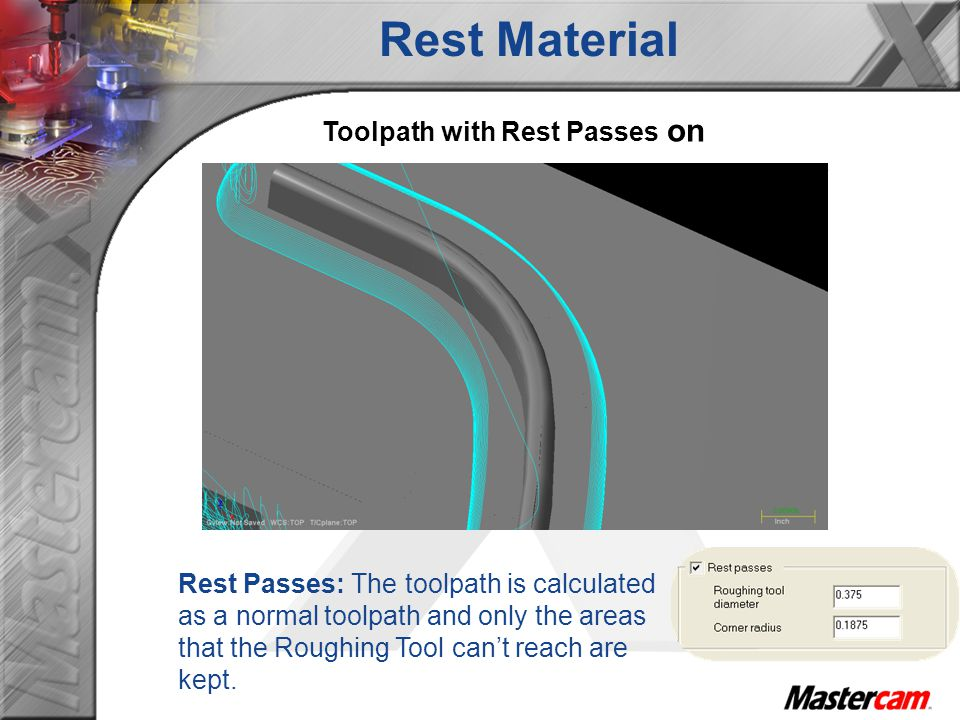 Toolpath with Rest Passes on