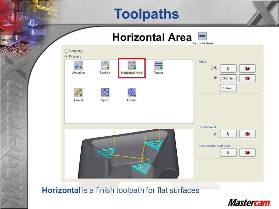 Toolpaths Horizontal Area