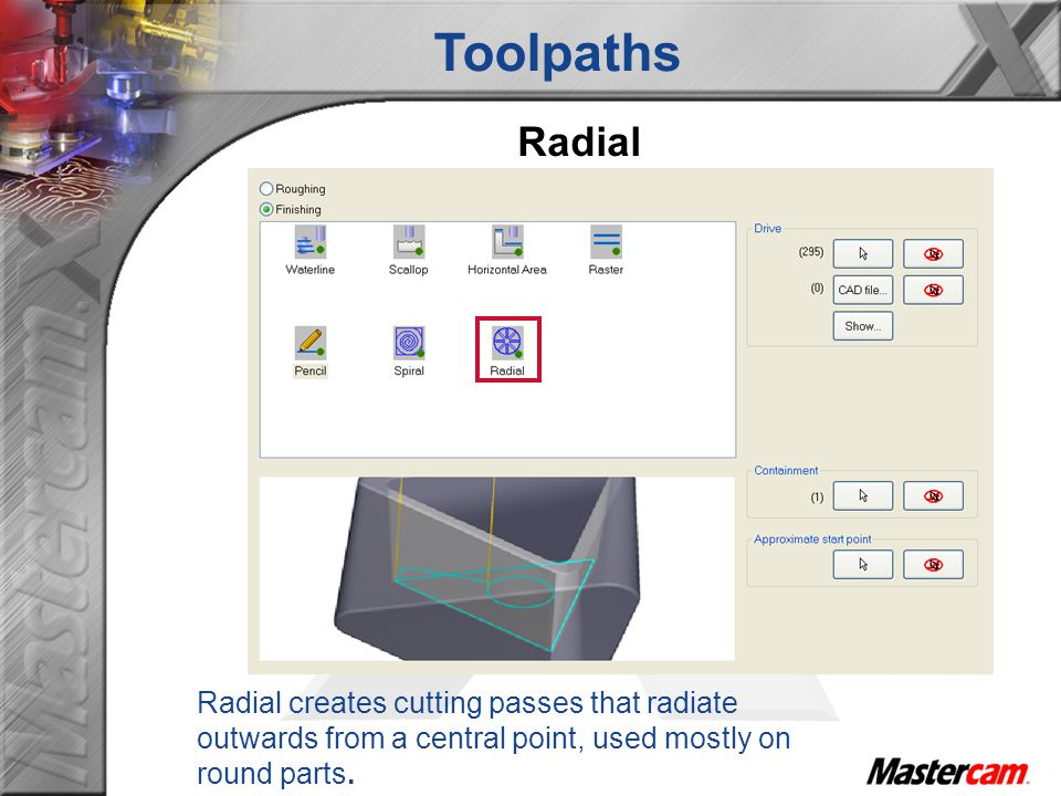 Toolpaths Radial.