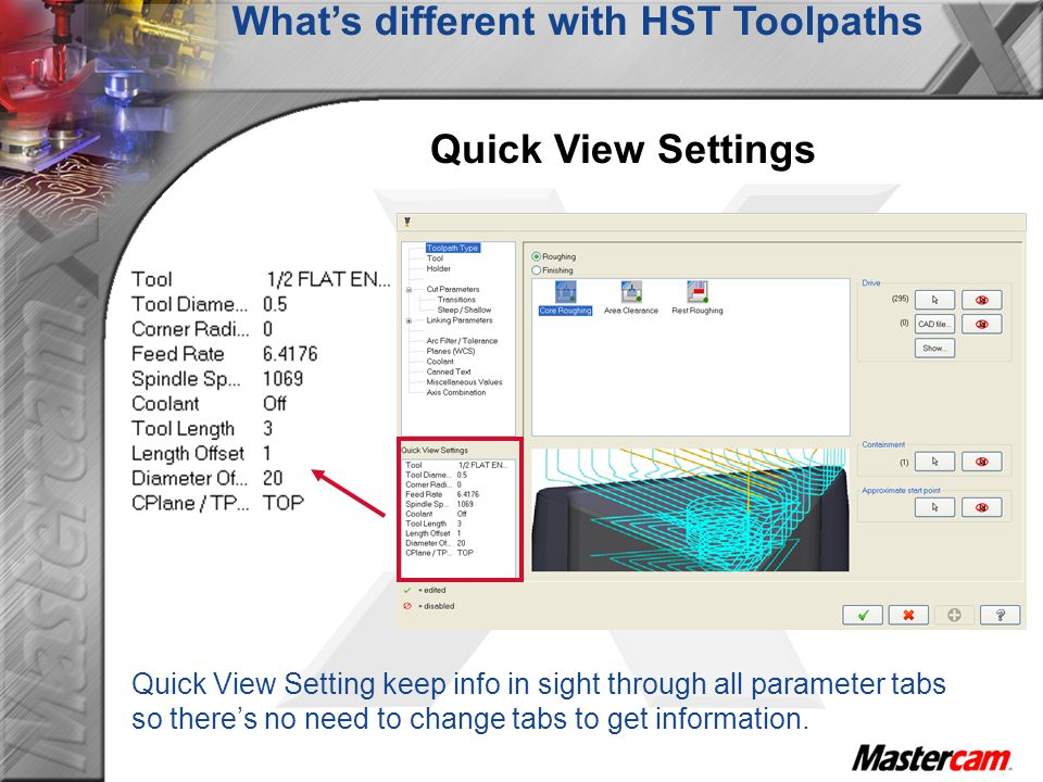 What's different with HST Toolpaths