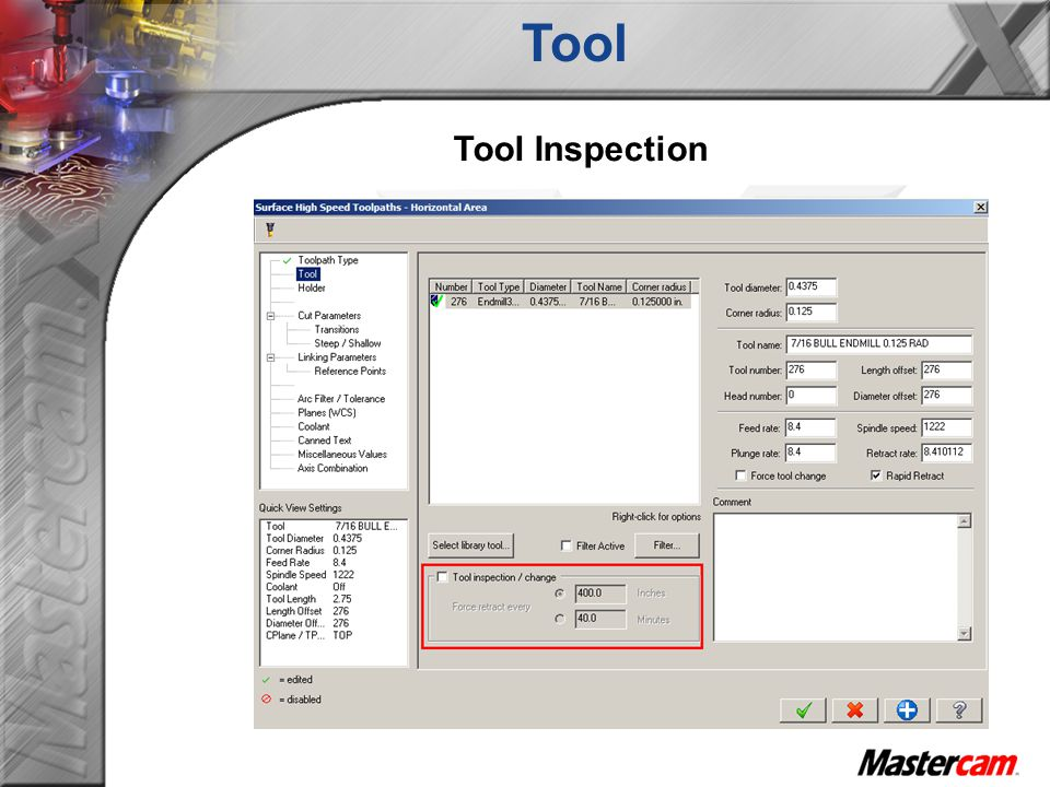 Tool Tool Inspection