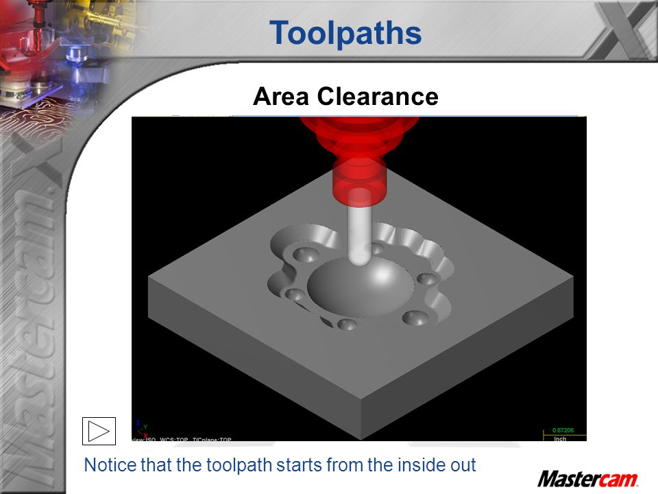 Toolpaths Area Clearance