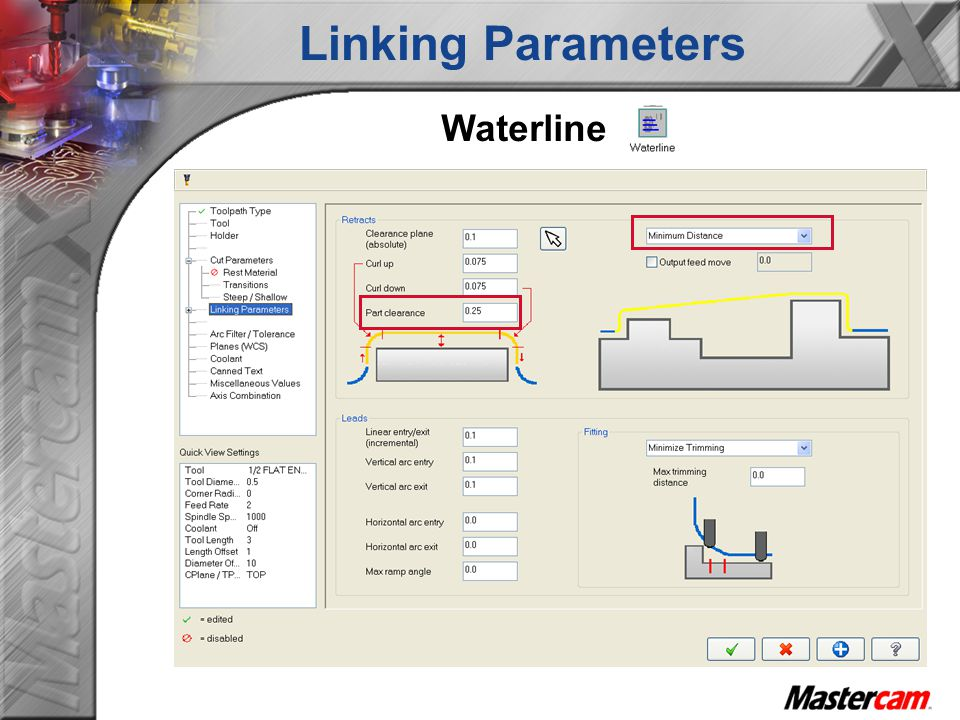 Linking Parameters Waterline