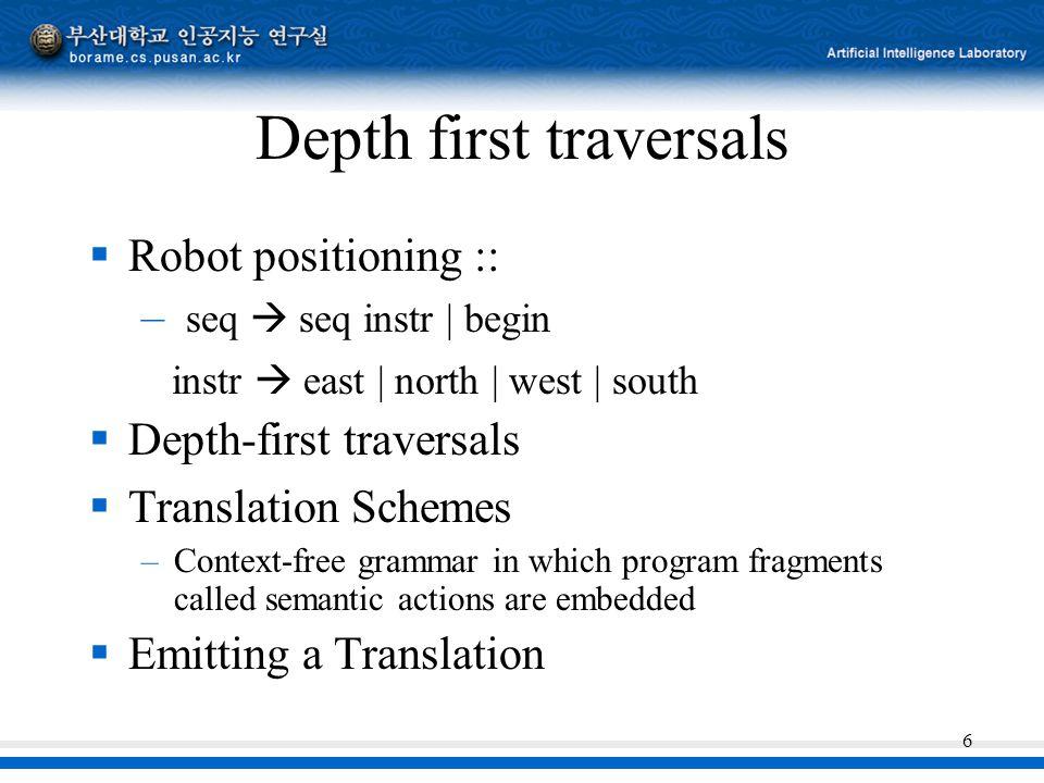 Depth first traversals