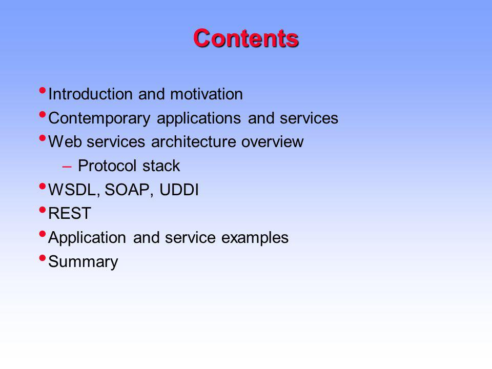 Contents Introduction and motivation