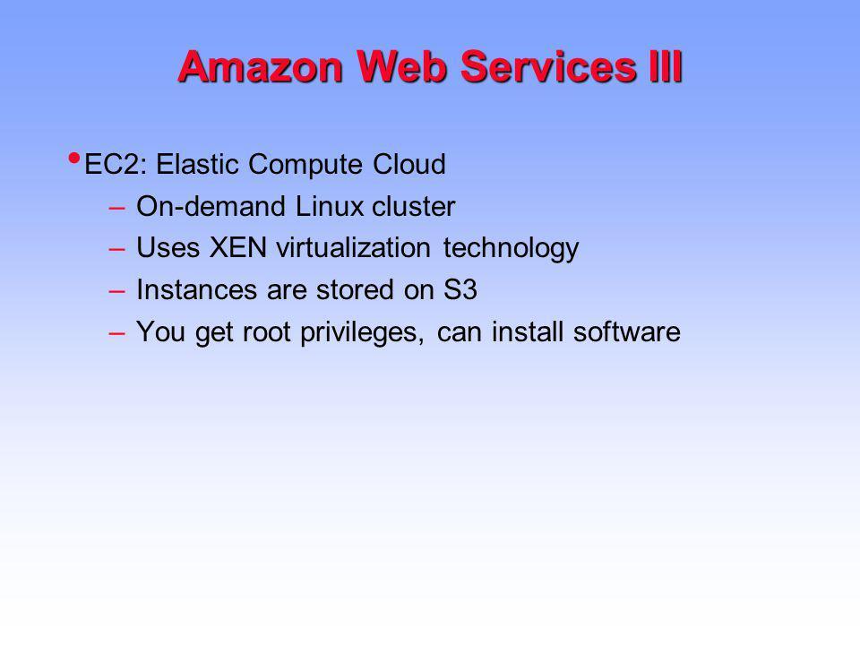 Amazon Web Services III