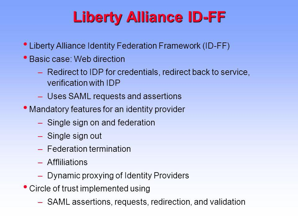 Liberty Alliance ID-FF