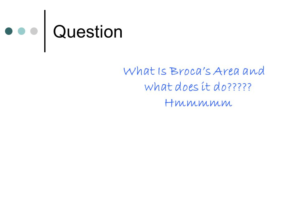 What Is Broca's Area and what does it do Hmmmmm
