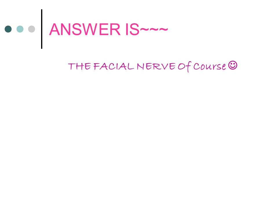 THE FACIAL NERVE Of Course 