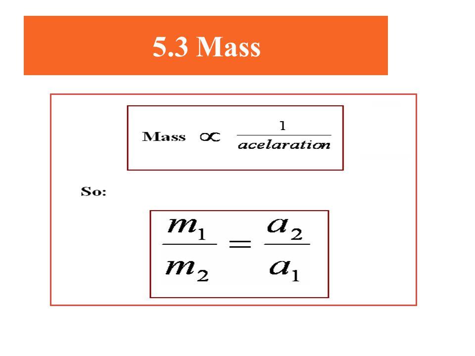 5.3 Mass