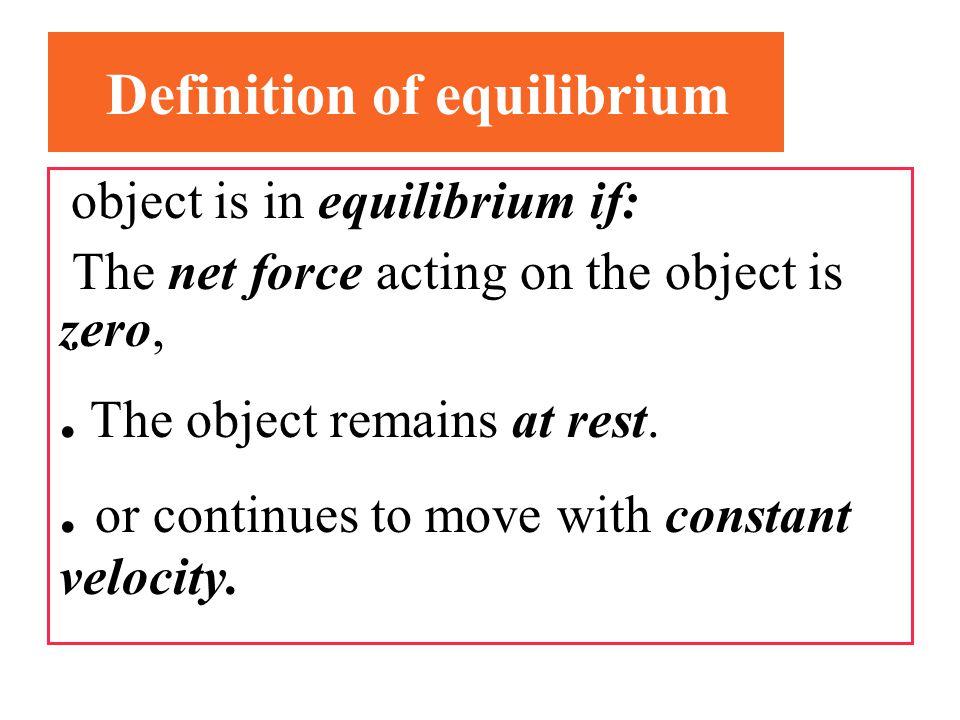 Definition of equilibrium