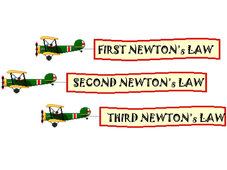 FIRST NEWTON's LAW SECOND NEWTON's LAW THIRD NEWTON's LAW