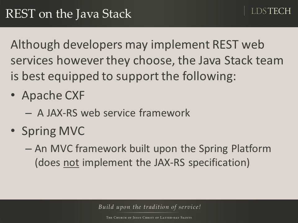 REST on the Java Stack