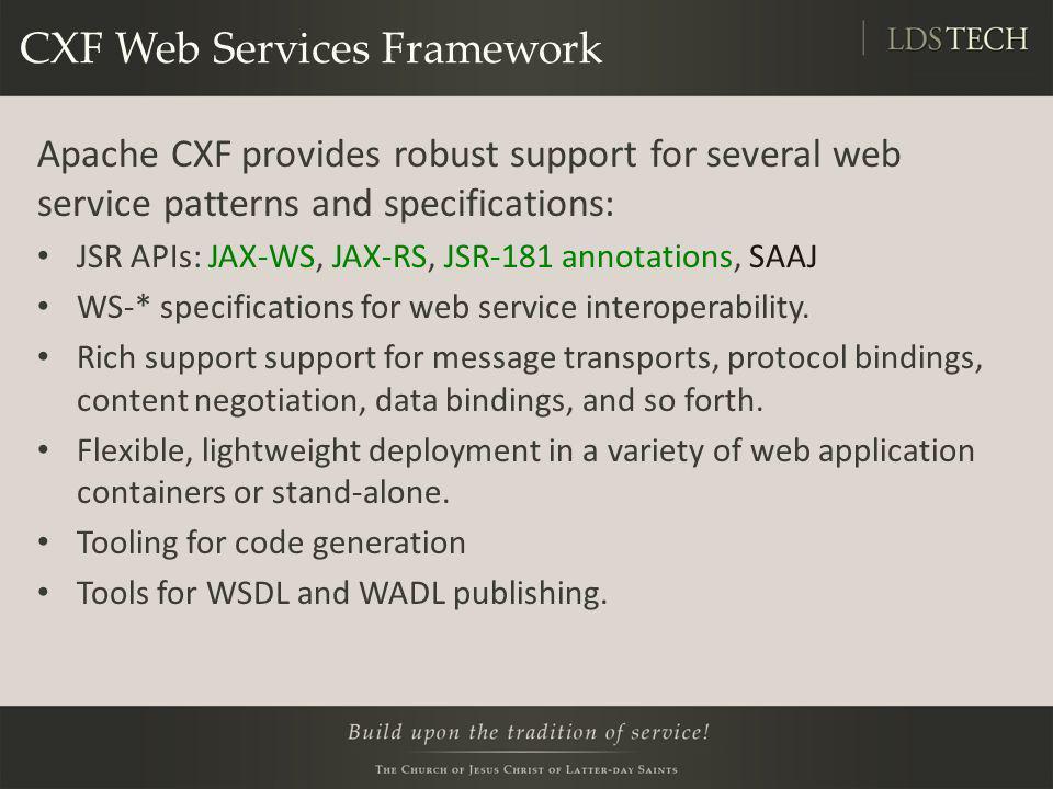 CXF Web Services Framework