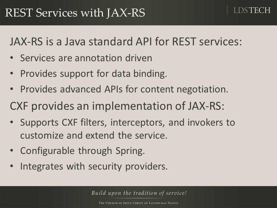 REST Services with JAX-RS