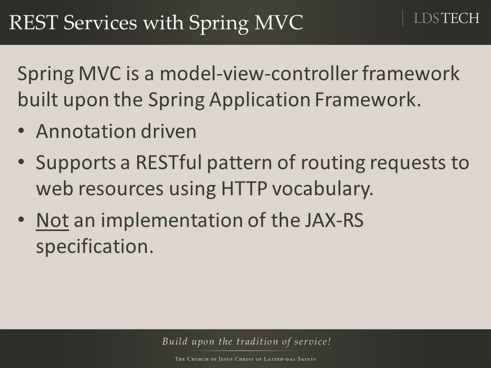 REST Services with Spring MVC