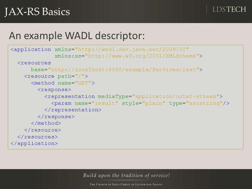An example WADL descriptor: