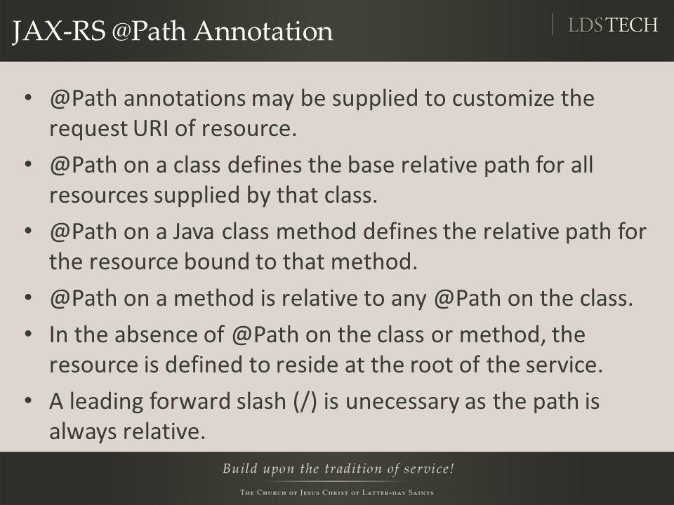 JAX-RS @Path Annotation