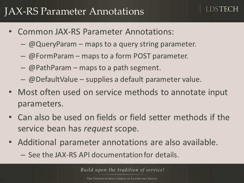 JAX-RS Parameter Annotations