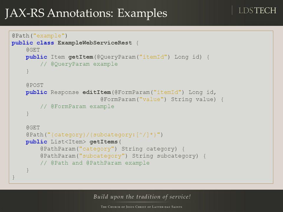 JAX-RS Annotations: Examples