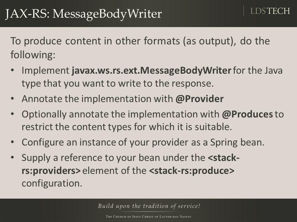 JAX-RS: MessageBodyWriter