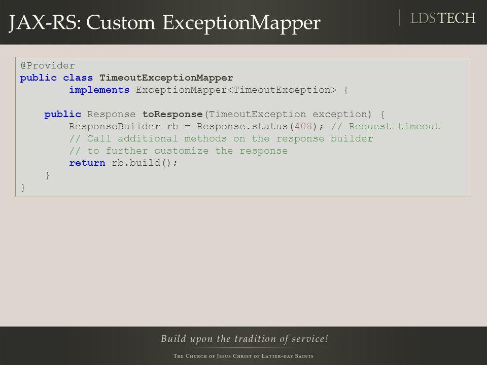 JAX-RS: Custom ExceptionMapper