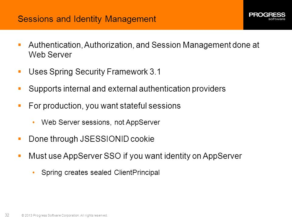 Sessions and Identity Management