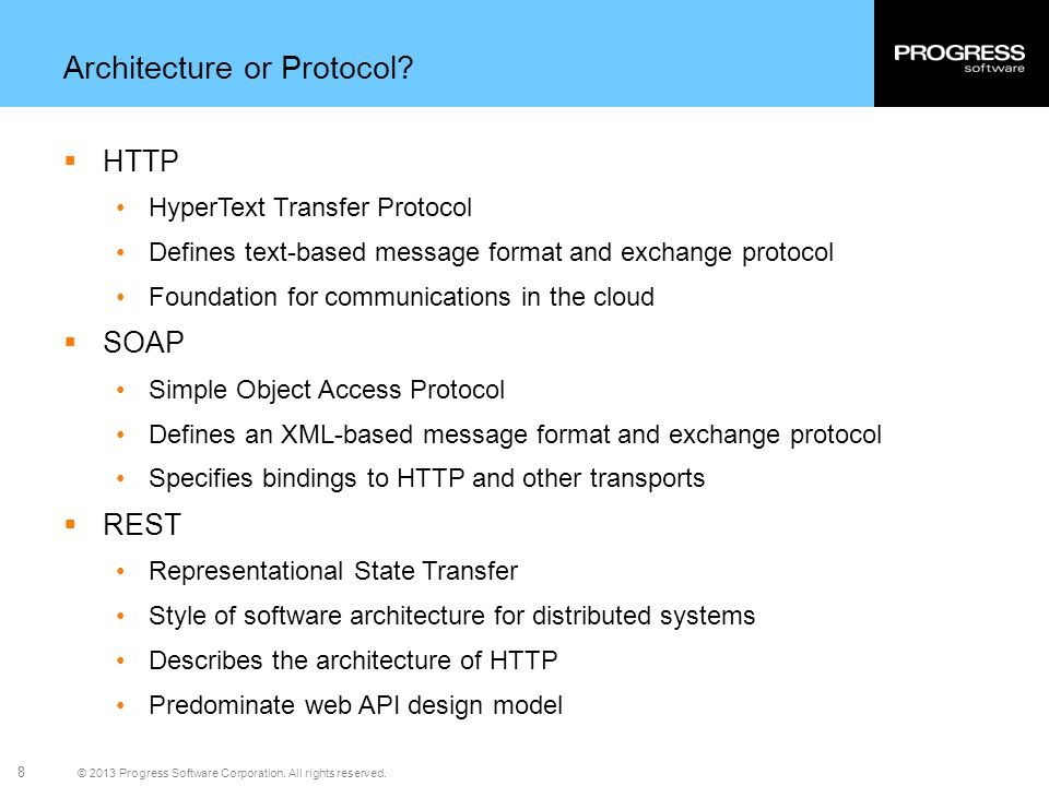 Architecture or Protocol