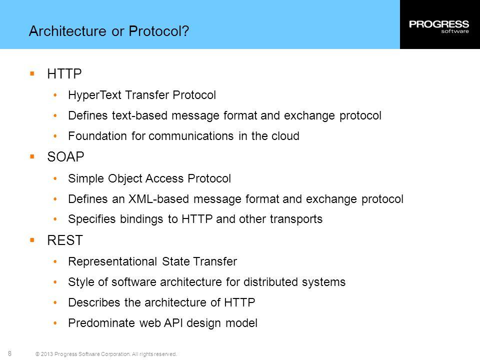 Architecture or Protocol