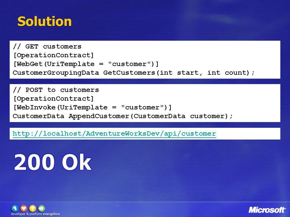 200 Ok Solution // GET customers