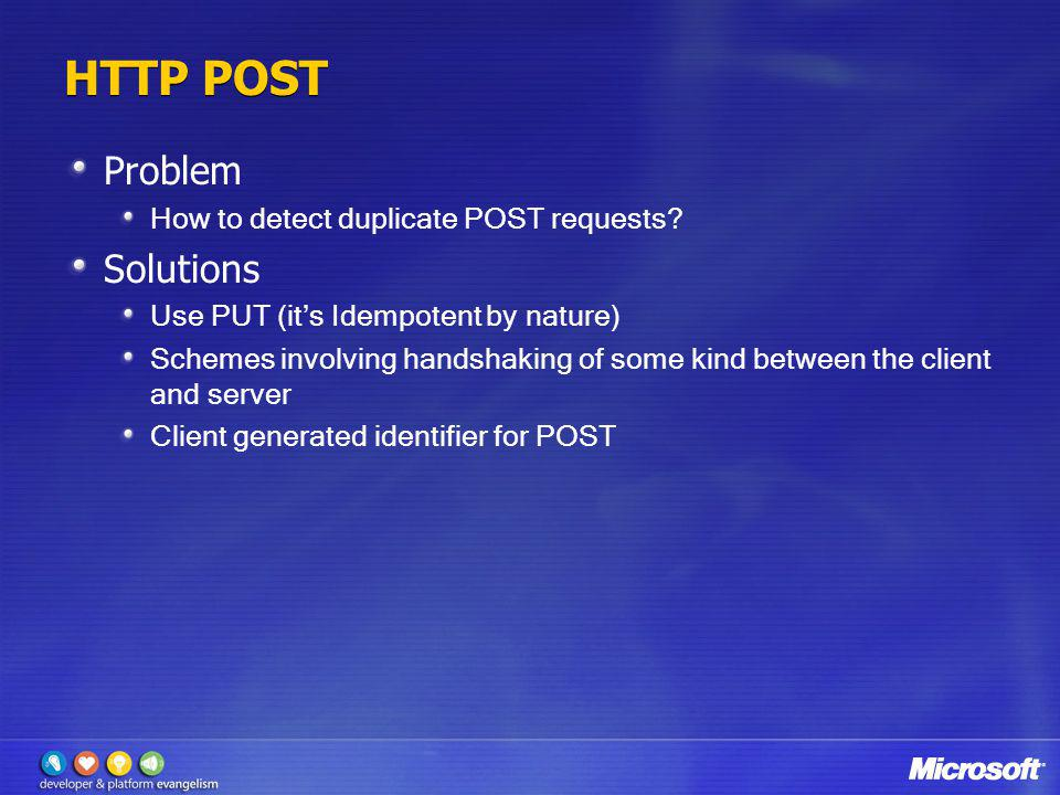 HTTP POST Problem Solutions How to detect duplicate POST requests
