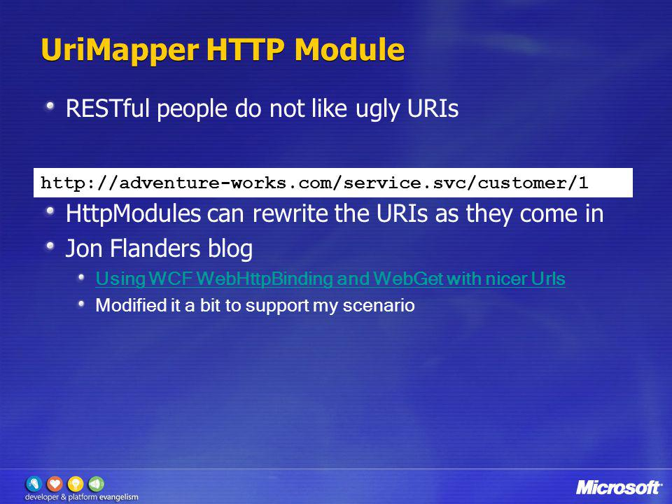 UriMapper HTTP Module RESTful people do not like ugly URIs
