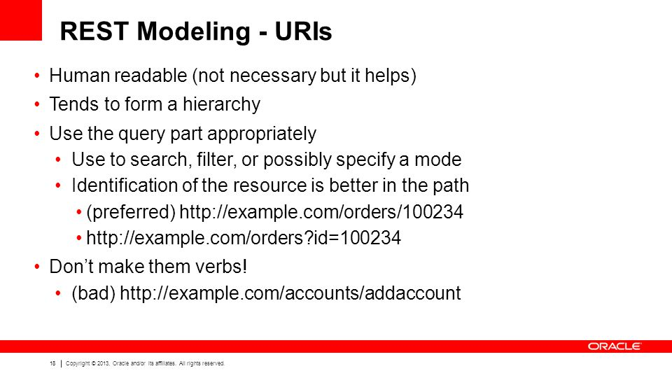 REST Modeling - URIs Human readable (not necessary but it helps)
