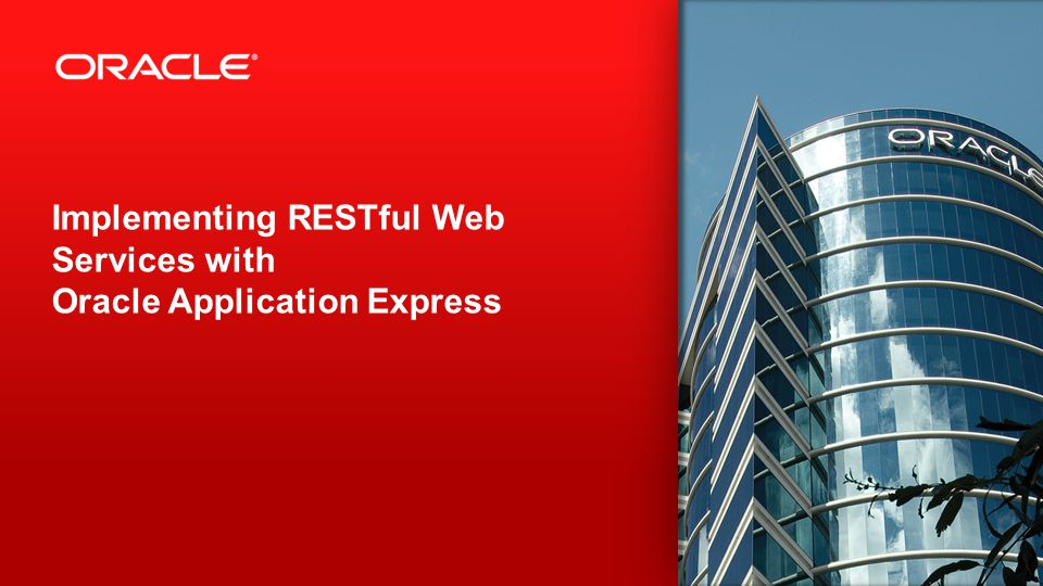 Implementing RESTful Web Services with Oracle Application Express