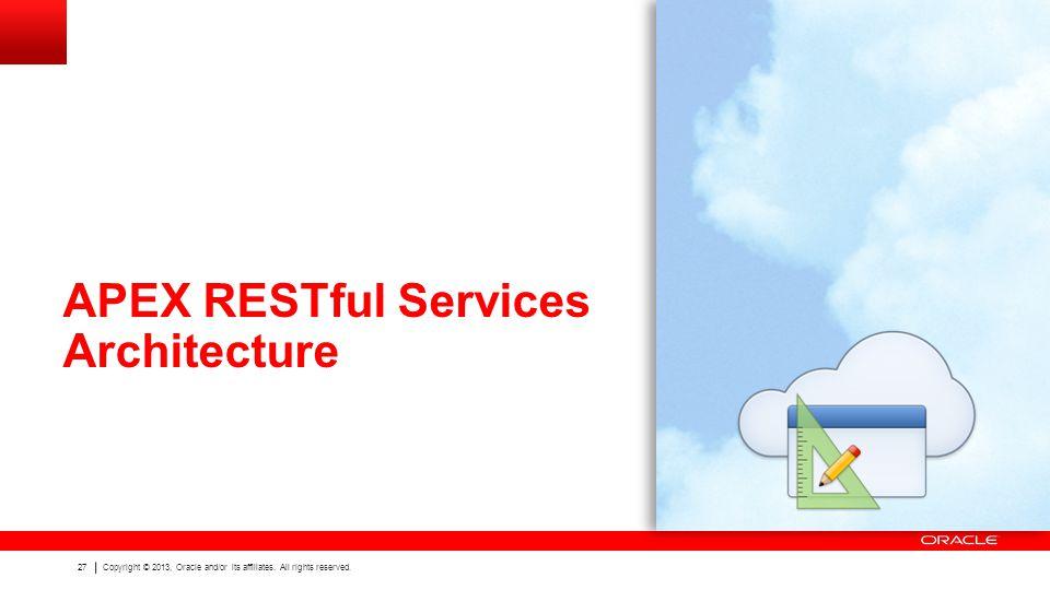 APEX RESTful Services Architecture