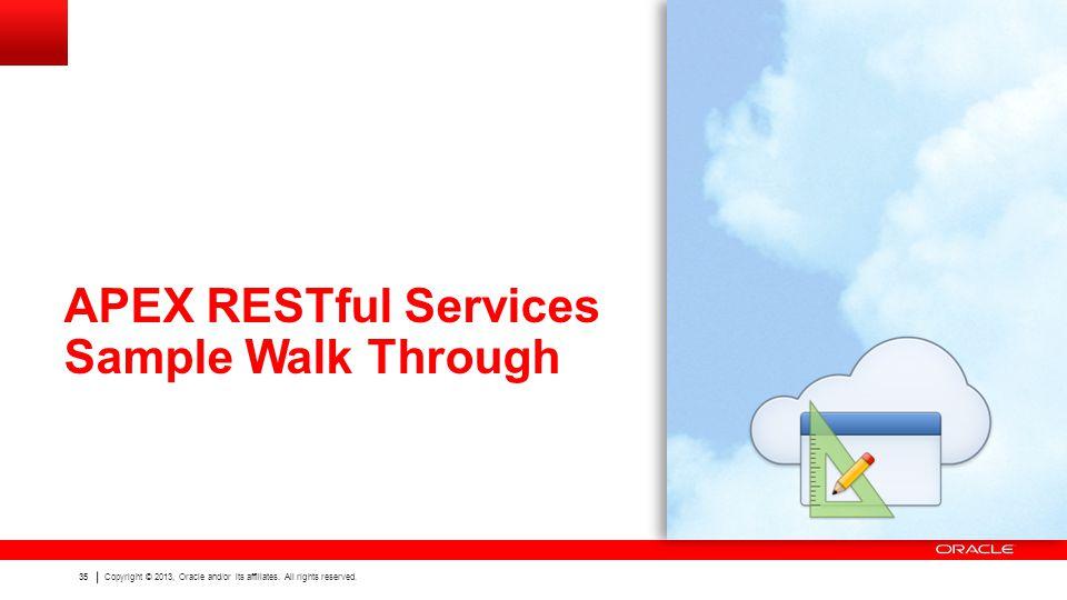 APEX RESTful Services Sample Walk Through