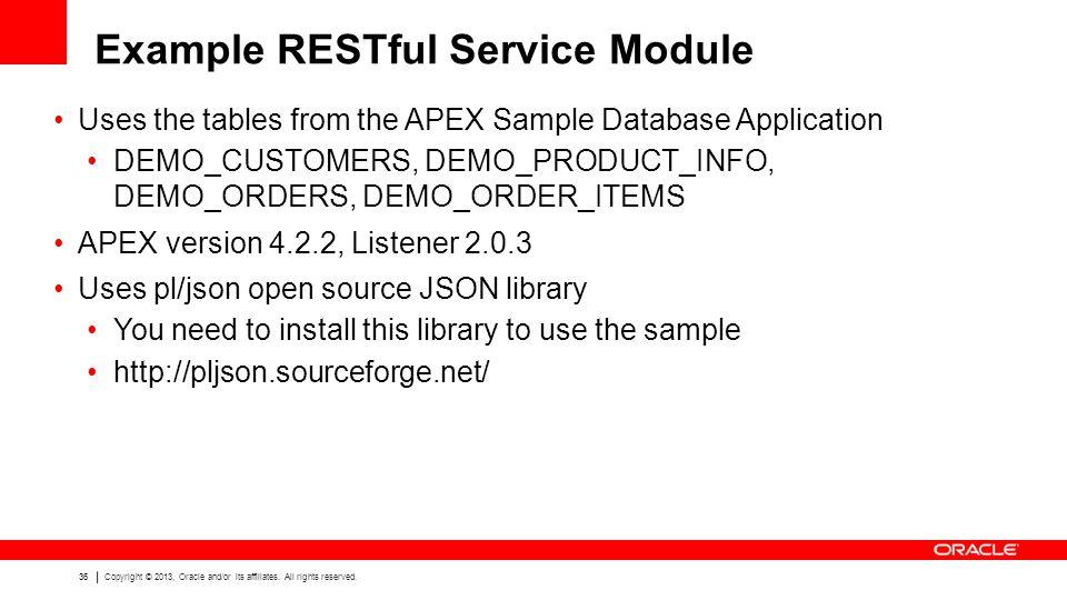 Example RESTful Service Module