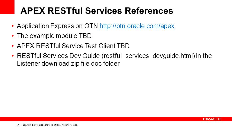 APEX RESTful Services References