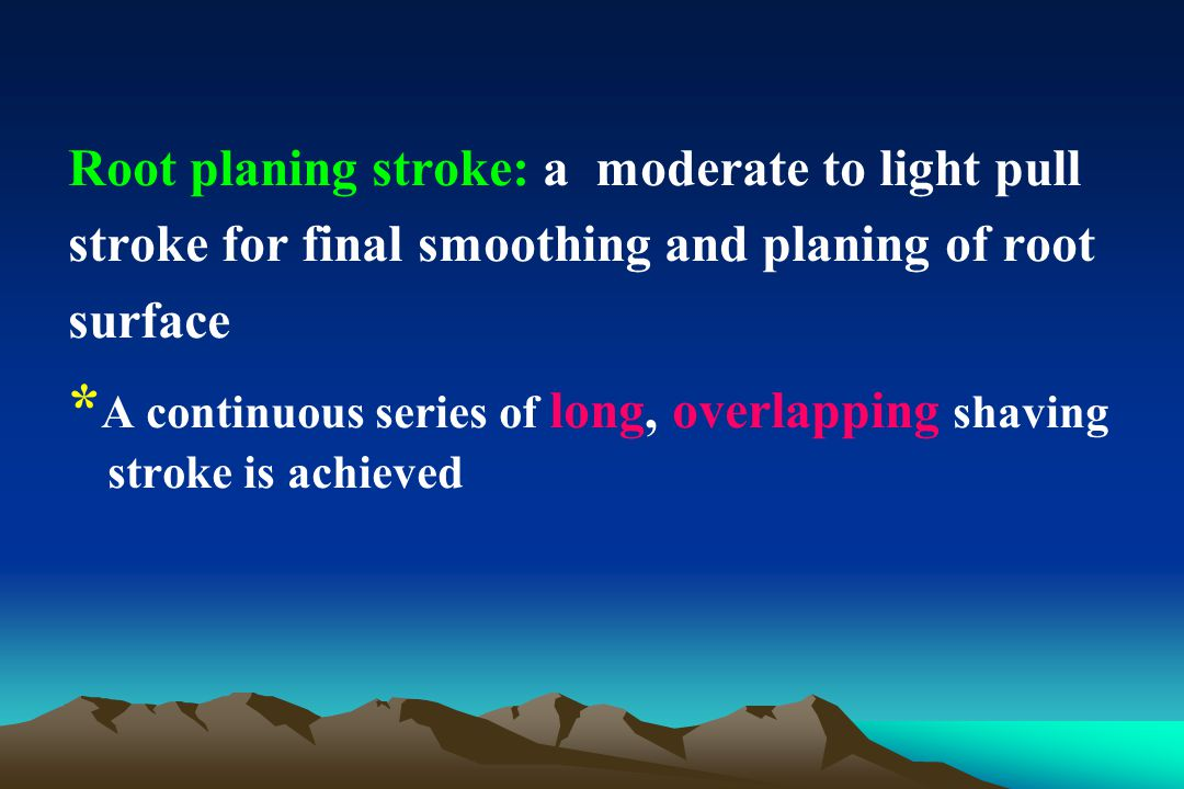 *A continuous series of long, overlapping shaving stroke is achieved