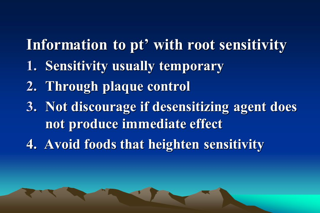 Information to pt' with root sensitivity