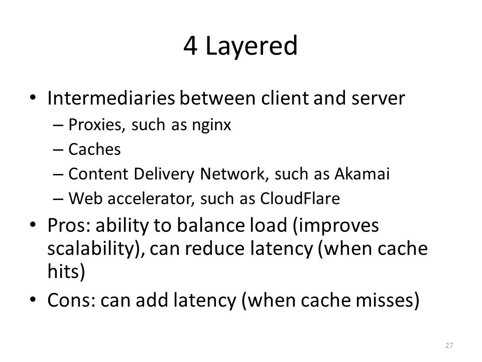4 Layered Intermediaries between client and server