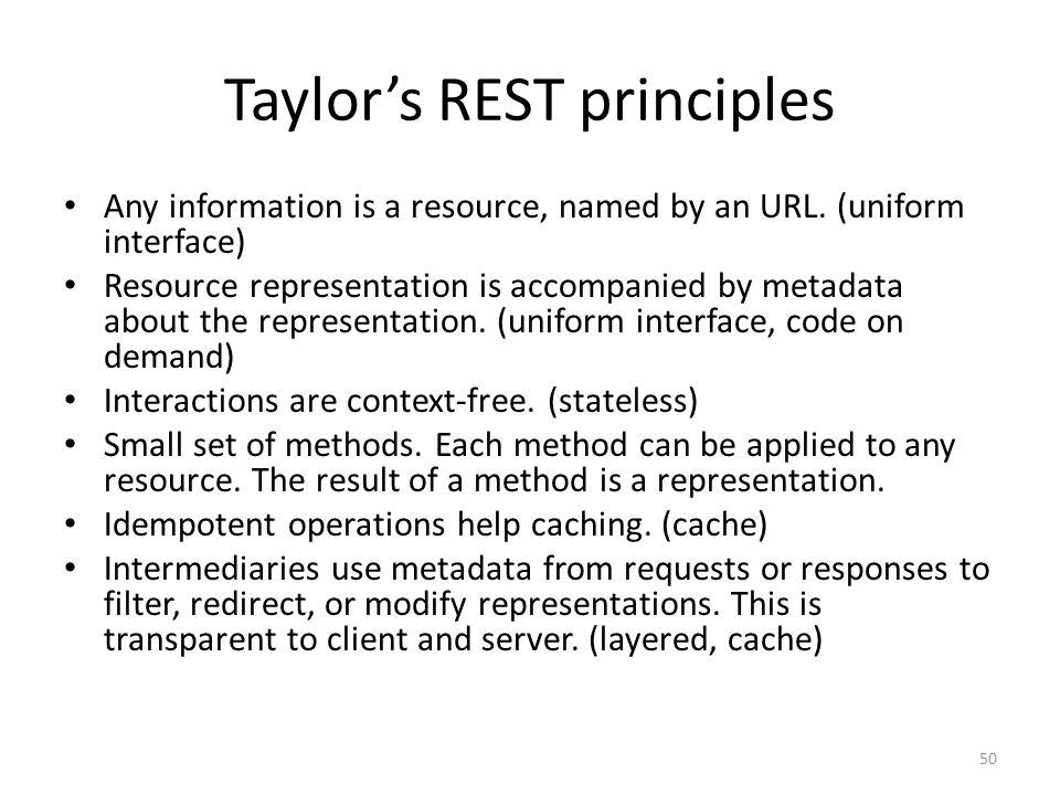 Taylor's REST principles