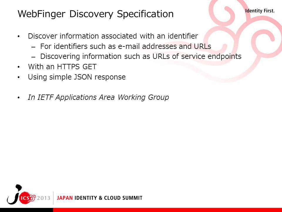 WebFinger Discovery Specification