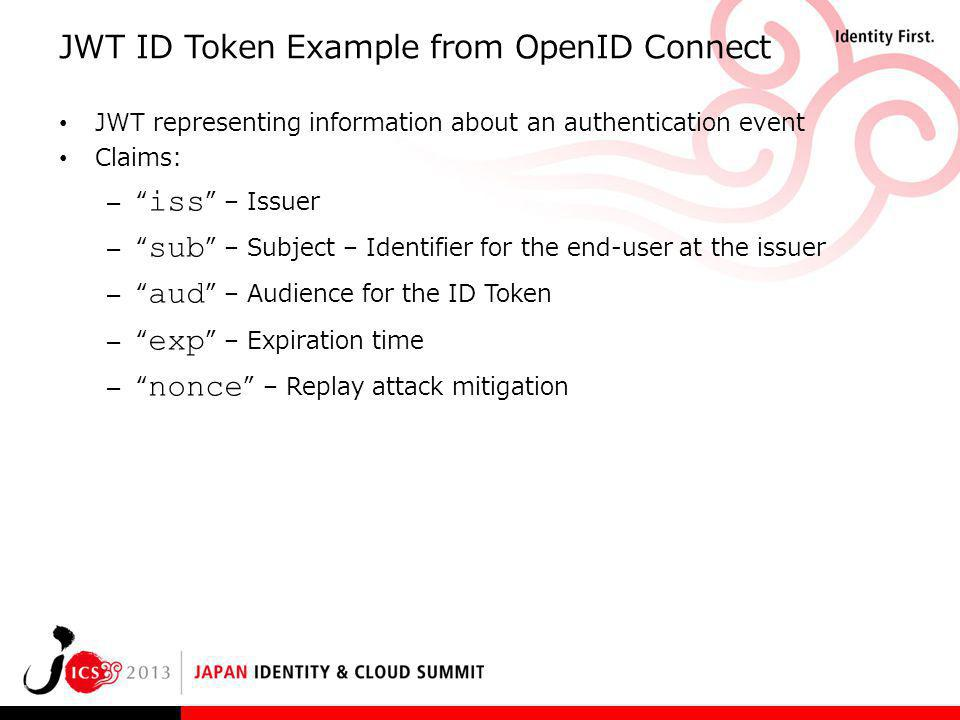 JWT ID Token Example from OpenID Connect