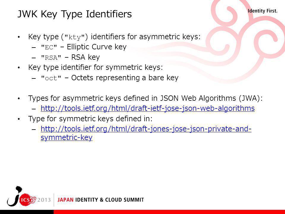 JWK Key Type Identifiers