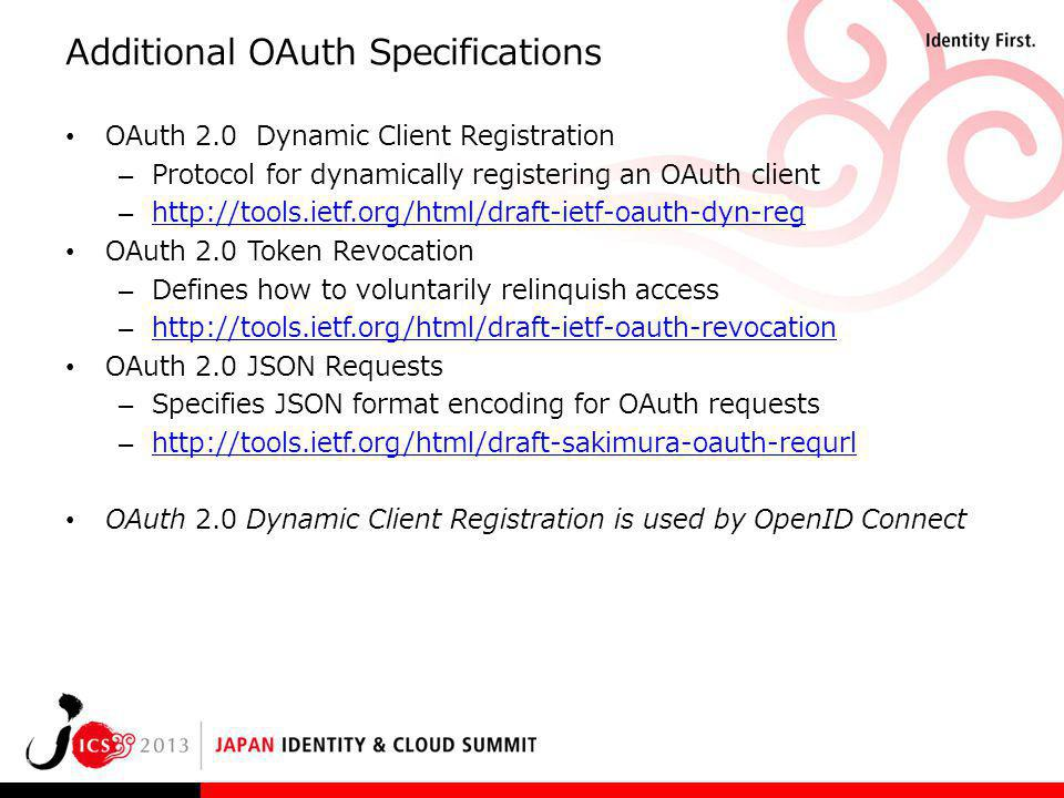 Additional OAuth Specifications