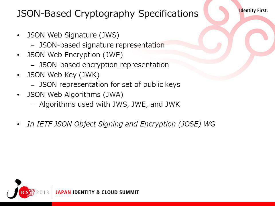 JSON-Based Cryptography Specifications