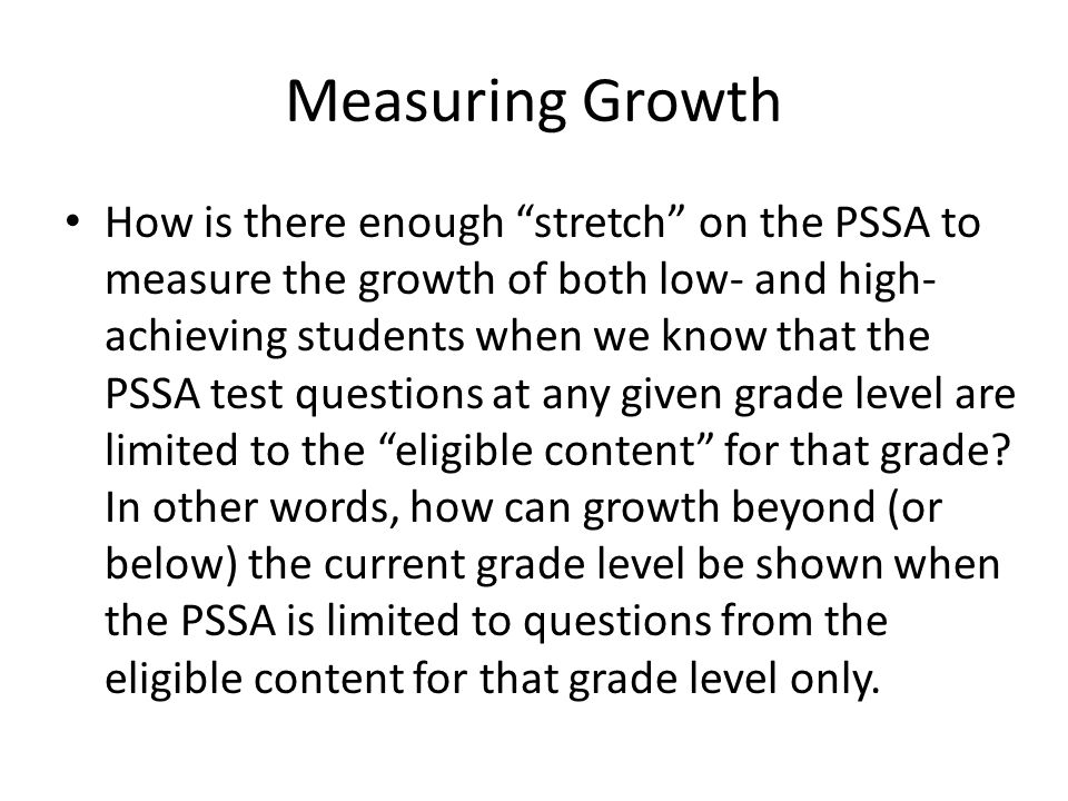 Measuring Growth